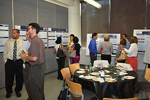 Various residents at research poster conference