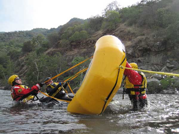 Emergency rafting