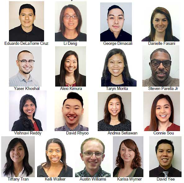 Student roster of 2018 Pharmacy students