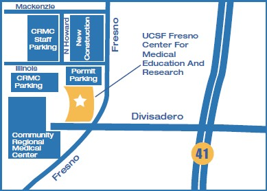 UCSF Fresno Parking Map