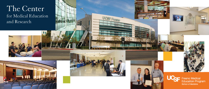 Various pictures of the UCSF Fresno Center