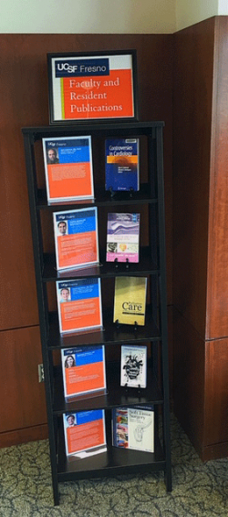 Photo of medical publications display