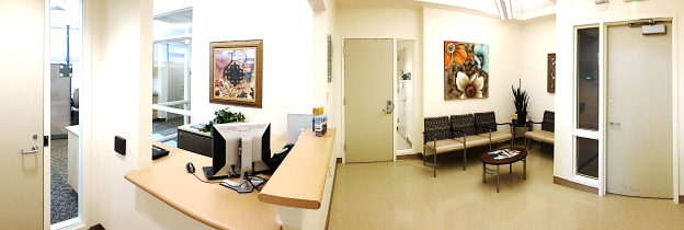 Patient waiting area in Clinical Research