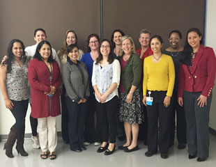 Group of women doctors and health professionals