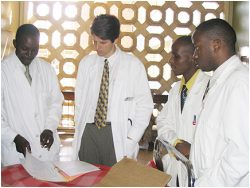 Dr. Stoltz with African physicians