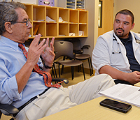 Dr. Sueldo advising Medical Student