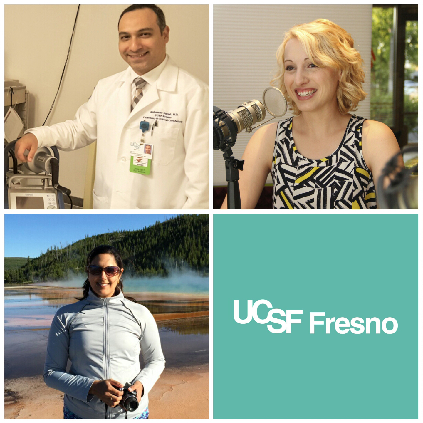 Top left: Dr. Fayed; bottom left: Dr. PandyaL; top right: Dr. Mason