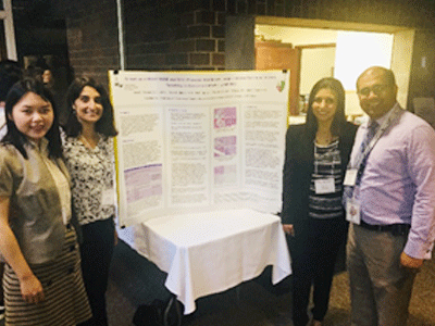 Residents presenting poster