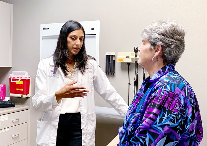 Farah Karipineni, MD, MPH with Rita Locke of Coalinga