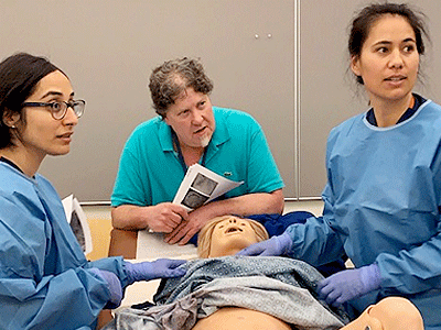 OB residents and faculty at simulation exercise