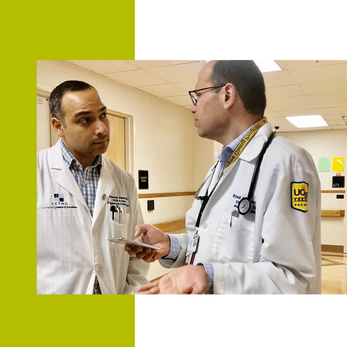 Mohamed Fayed, MD, (left) and Eyad Almasri, MD, (right).