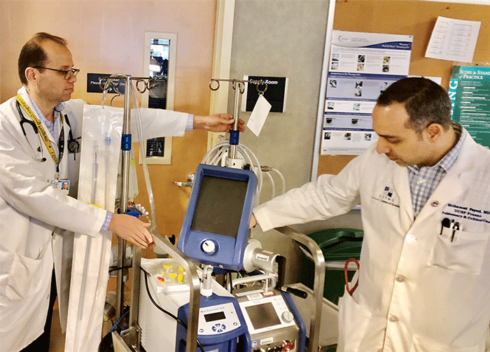 Eyad Almasri, MD, (left) and Mohamed Fayed, (right)