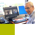 Dr. Craig Campbell conducting sessions via Zoom